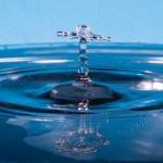 collision goutte d'eau