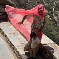 Inde  les habitants du Rajastan